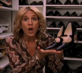Carrie Bradshaw Manolo Blahnik Mary Jane heels
