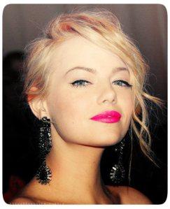 emma-stone-hot-pink-lipstick1
