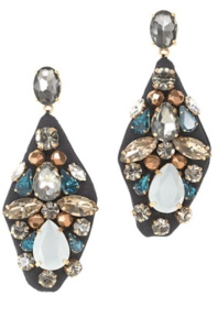 J. Crew embroidered jewel earrings
