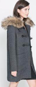 Zara coat with fur hood