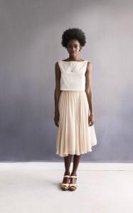 Natalie layered Peach Chiffon Skirt - On sale $225