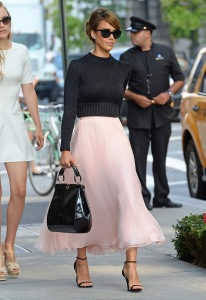 Jessica Alba Spring 2013 Fashion Week NYC